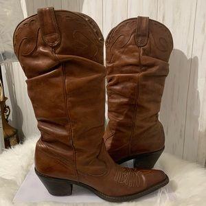 Steve Madden Saddle Cowboy Boots Size 8